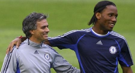 mourinho and drogba