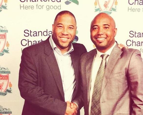 Barnes with Mike Madoda  pic via @mikemadoda