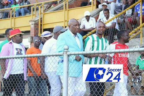 Philip Chiyangwa makes his way to the VIP seats