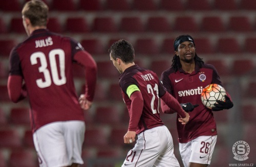 Nhamoinesu scores in Sparta Prague derby win
