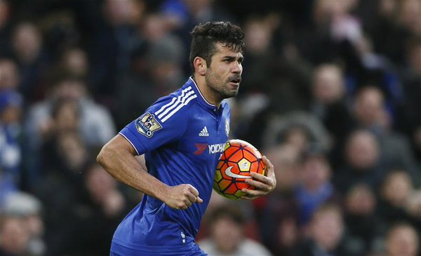 Diego Costa fires Chelsea to the top
