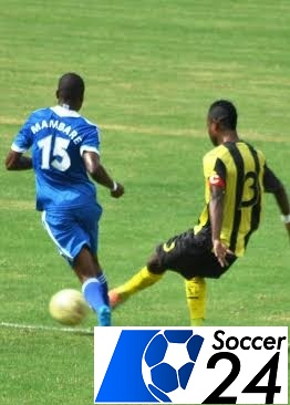 AS Vita player under pressure from Masimba Mambare