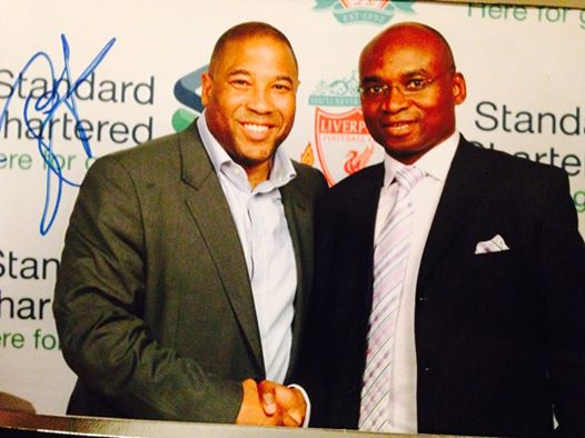 Liverpool legend John Barnes in Zimbabwe