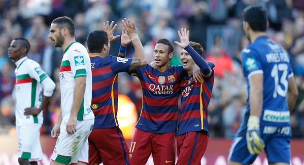 Messi strikes hat-trick in Barca win