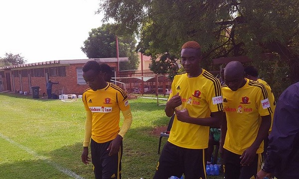 Chicken Inn set to train at match venue today
