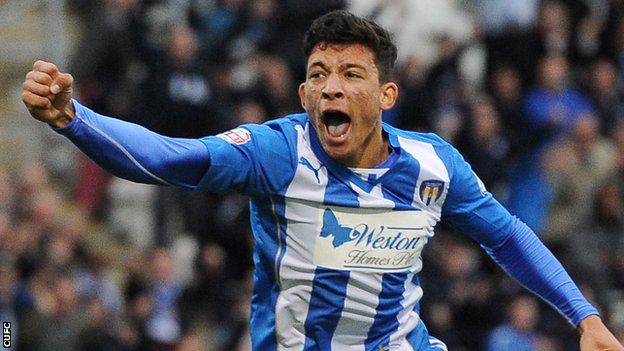 Warriors hopeful Macauley Bonne scored for Colchester United