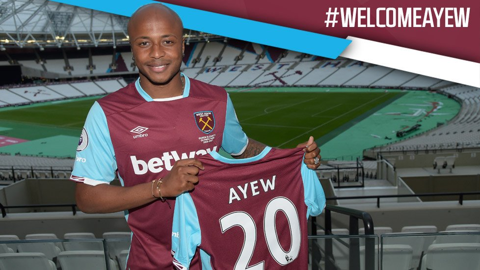 West Ham have confirmed the £20.5m signing of Andre Ayew