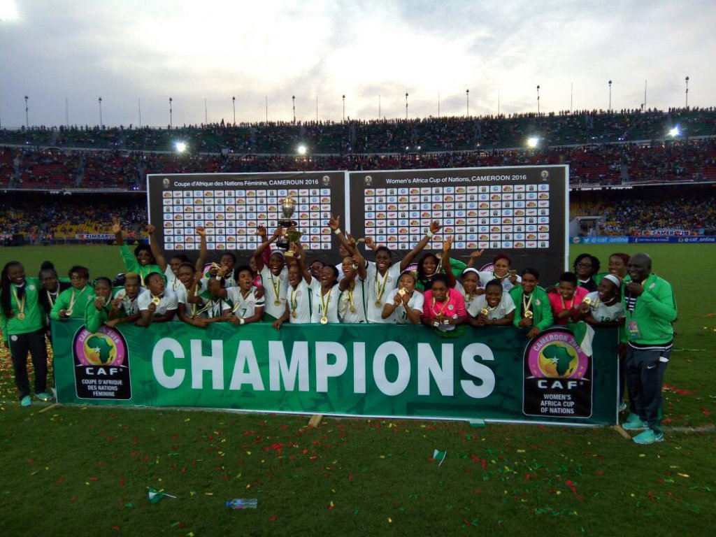 AWCON 2016: Nigeria beat Cameroon to win record 8th AWCON