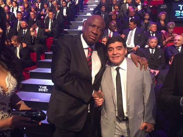 Pictures: Chiyangwa hangs outs with football's elite at FIFA awards