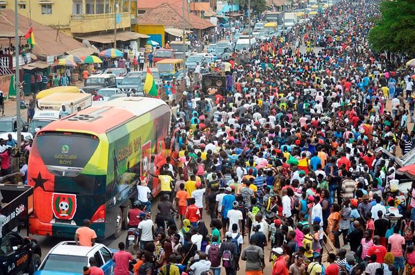 What a send-off for the Guinea-Bissau team as they head to AFCON 2017