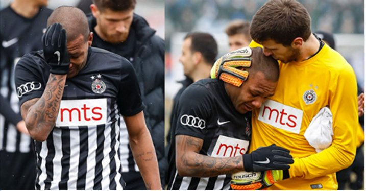 Brazillian player left the field in tears after suffering racial abuse in Serbia
