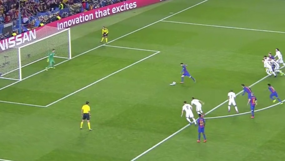 VIDEO: Magic Magic Magic! Lionel Messi Brings Barca One Goal Closer From the Penalty Spot; 3-4 Agg