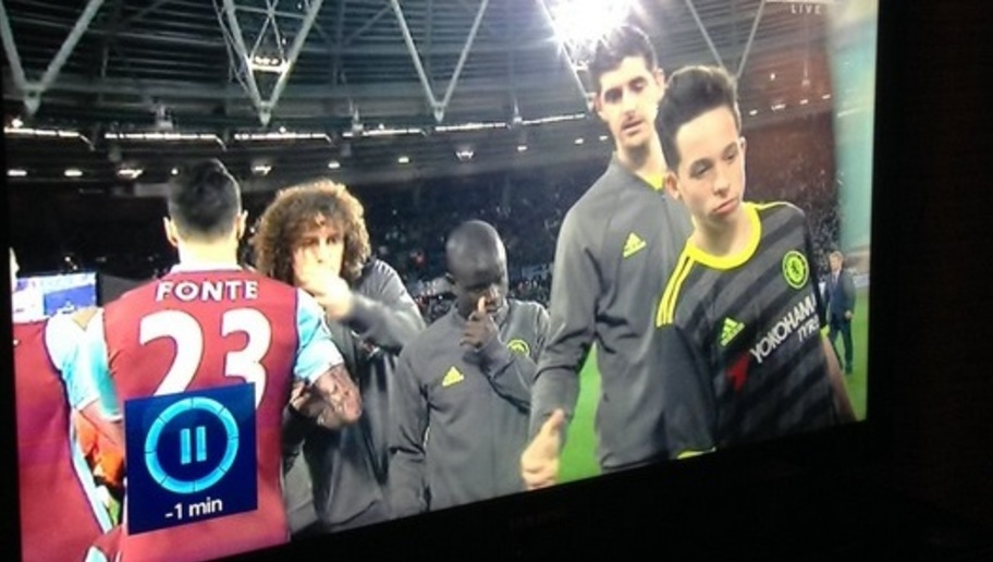 PHOTO: Twitter Left Stunned as Chelsea Mascot Towers Over Midfield Dynamo N'Golo Kante