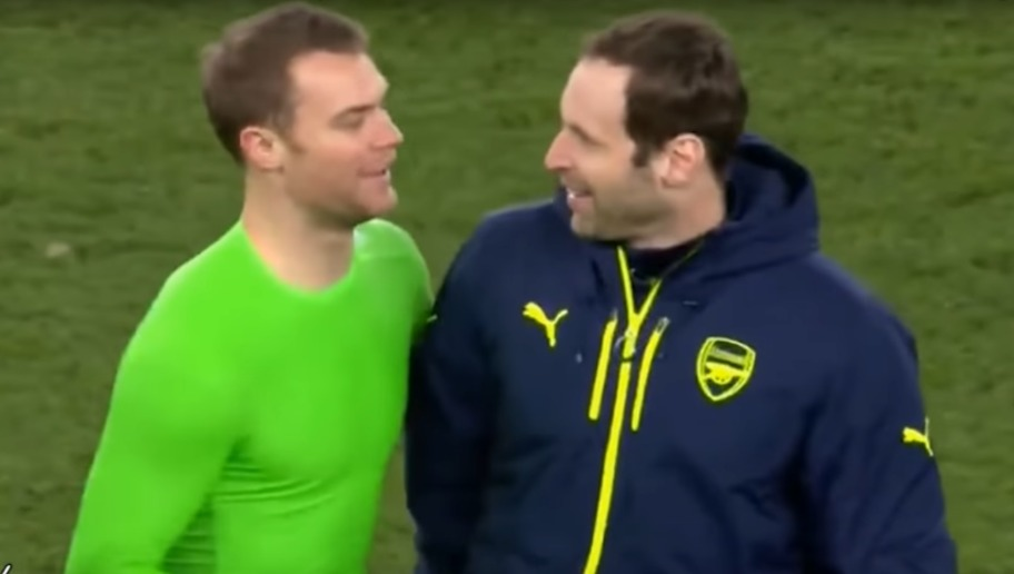 Arsenal Fans React to Petr Cech & Manuel Neuer's Interaction After Bayern Thrashing