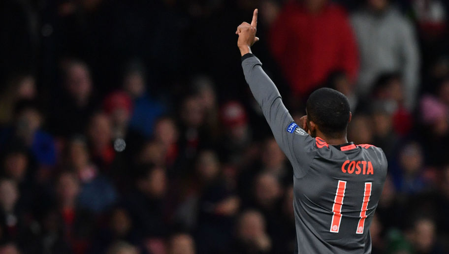 PHOTO: Douglas Costa Celebrates Arsenal Thrashing in London With Chelsea Star
