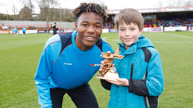 Kundai Benyu Named February Player of the Month for Aldershot Town