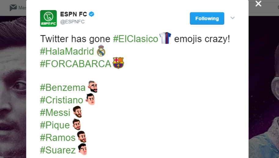 Emoji Mad! Twitter Unveils Awesome El Clasico Graphics Ahead of Final Real-Barca Clash of Season