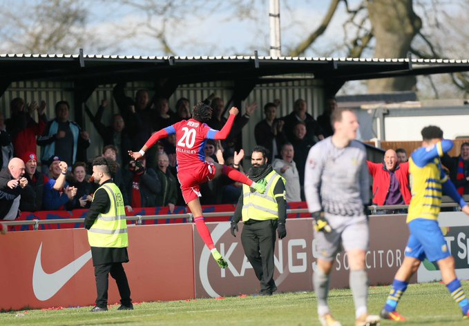 Benyu strikes a brace to secure a win for Aldershot
