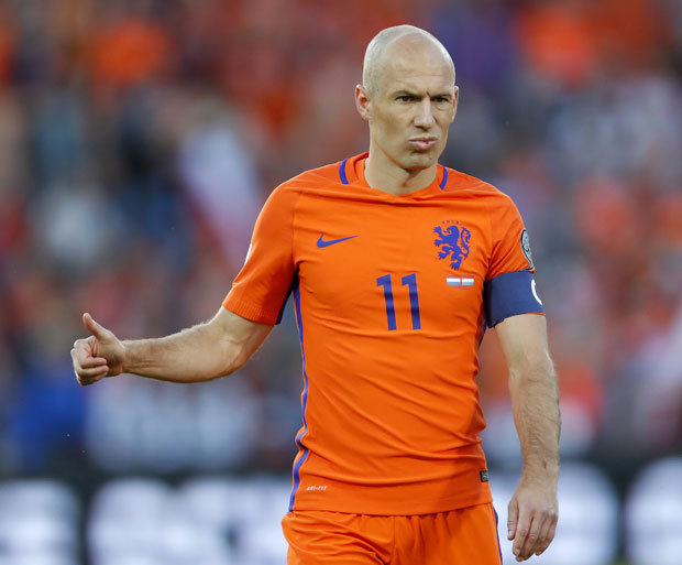 Arjen Robben retires from international football after failing to reach WC