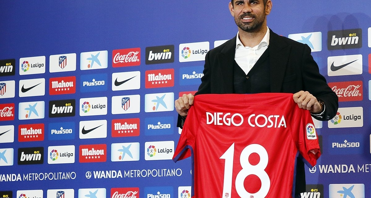 Diego Costa officially joins Atletico Madrid