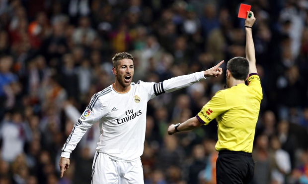 Sergio Ramos new red card record