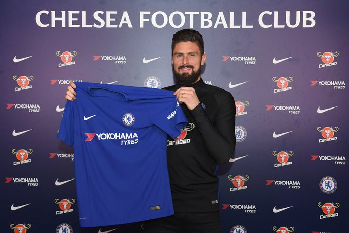 Chelsea have confirmed Olivier Giroud has joined the club from Arsenal
