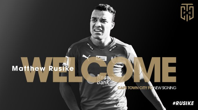 Cape Town City have confirmed the capture of Matthew Rusike