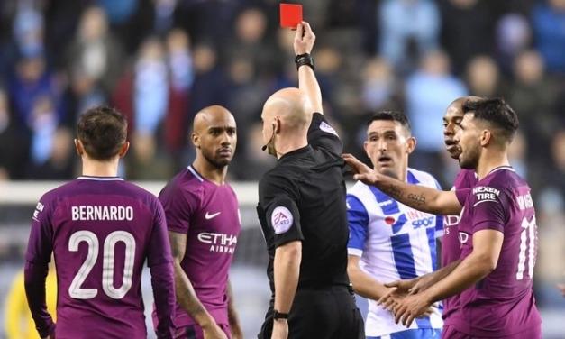 FA Cup: Ten-man Man City sunk by third-tier Wigan