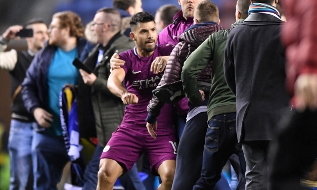 WATCH: Aguero punches Wigan fan after FA defeat
