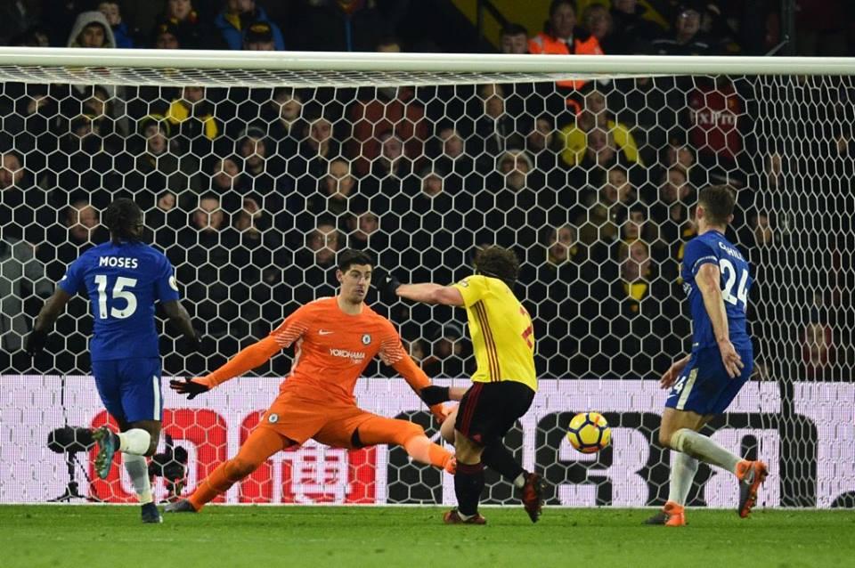 Watford thrash 10-man Chelsea