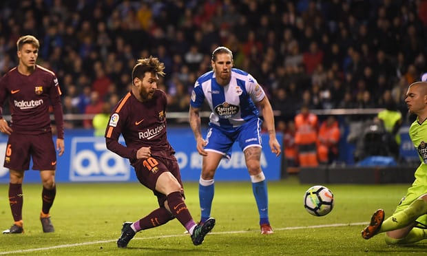 Barca win La Liga title as Messi creates history