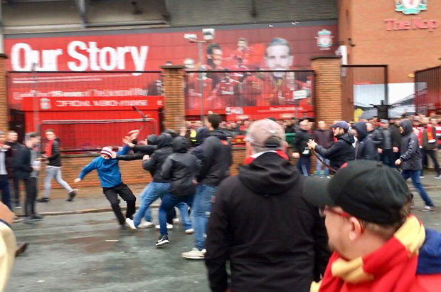 Two arrested for attempted murder after Anfield Stadium attacks before UCL game