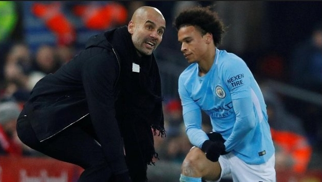 Leroy Sane has been piling the praise on Pep Guardiola