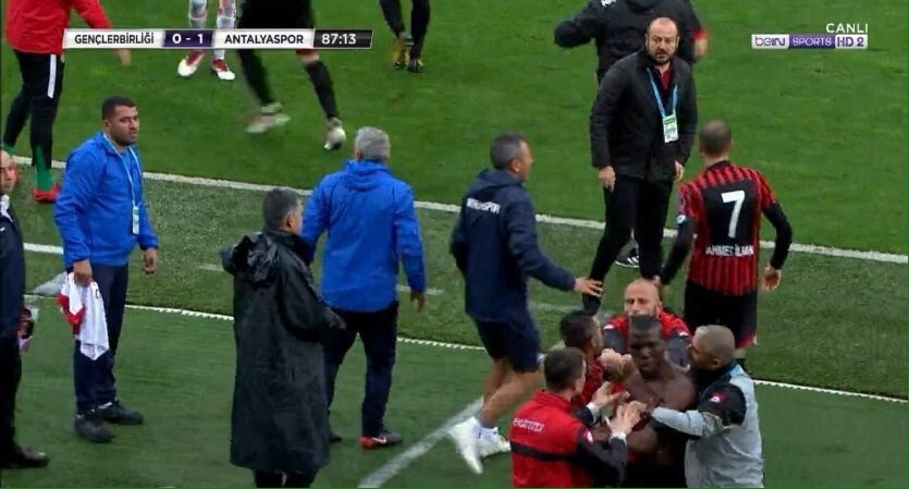 Watch: Pogba brother 'attacked' by team-mates in Turkey