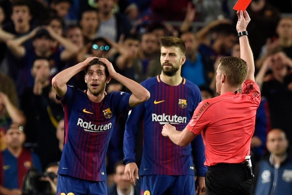 Barca defender Sergi Roberto banned for four games