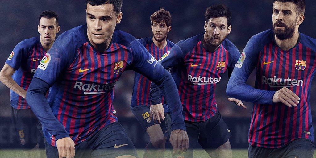 Barcelona unveil new home kit soccer24 - New home barcelona ...