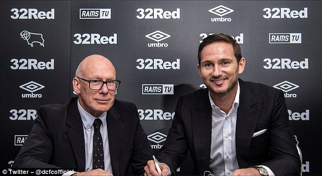 Frank Lampard announced as new coach of Derby County