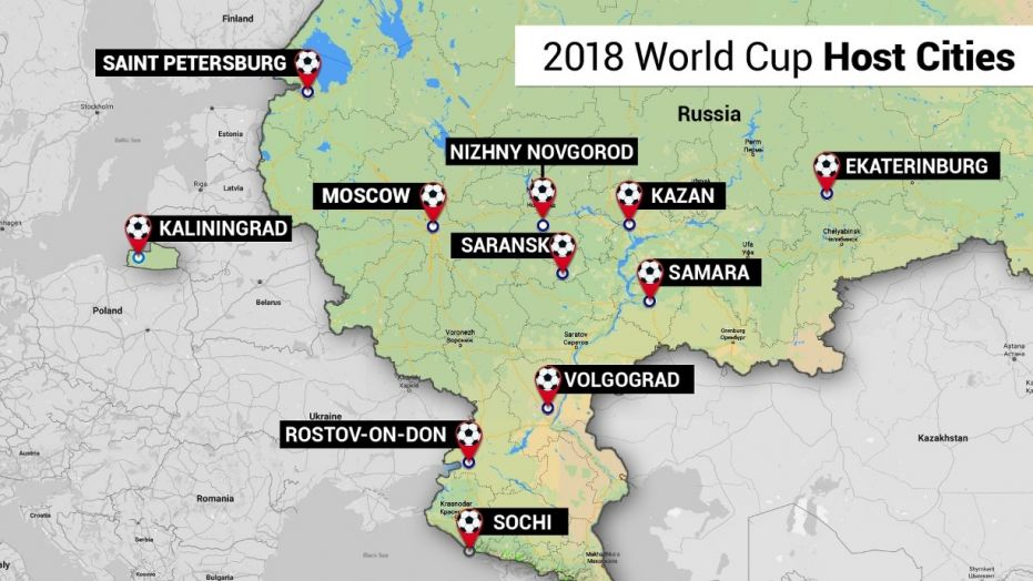 2018 FIFA World Cup venues and fixtures