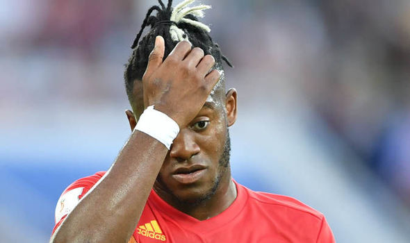 Video: Michy Batshuayi's painful goal celebration in win over England