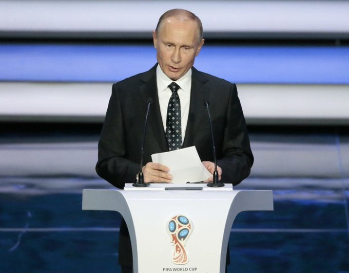 'Welcome to Russia': Russian President Putin greets football teams & fans