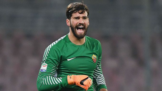 Roma agree Liverpool offer for goalkeeper Allison Becker