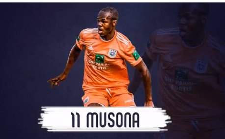 Musona to wear jersey number 11 at Anderlecht