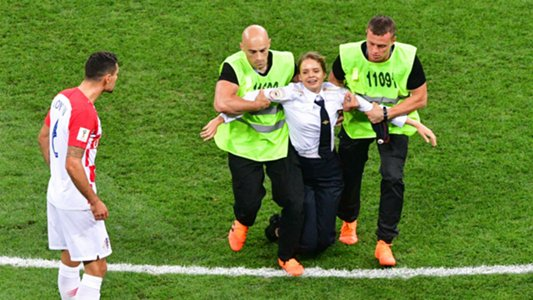 World Cup final pitch invaders jailed