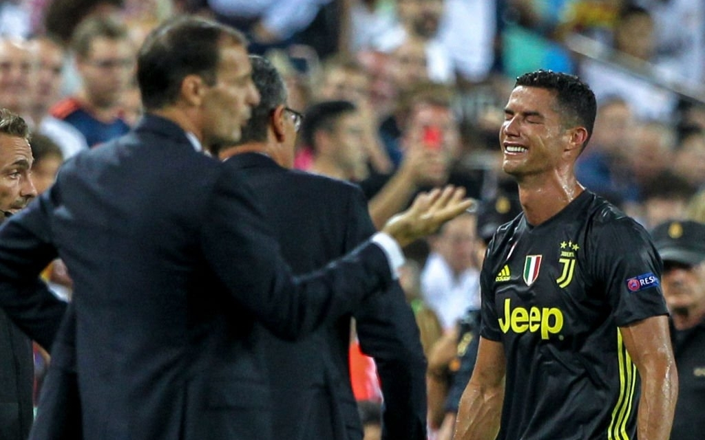 Watch: Cristiano Ronaldo in tears after seeing red