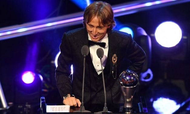 Luka Modrić wins FIFA Player of the year