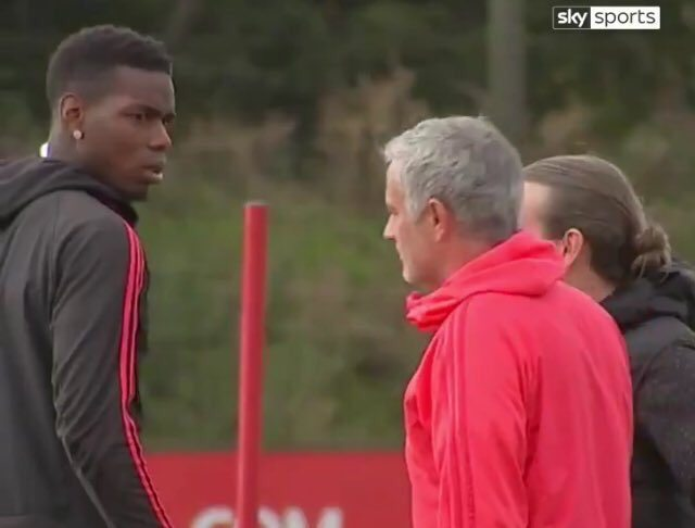 WATCH: Mourinho, Pogba in tense training ground exchange