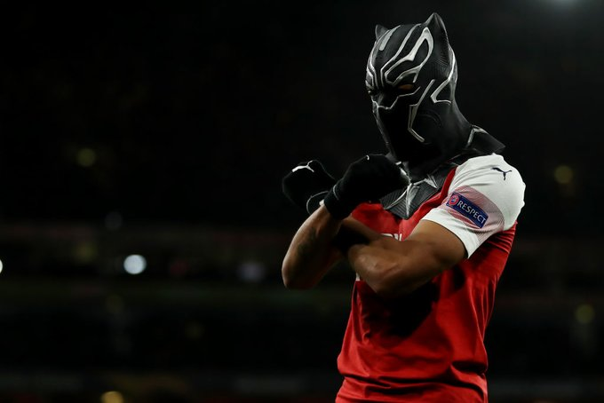 Aubameyang explains Black Panther celebration