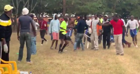 Watch: Local football club's players beat up match official after losing league encounter