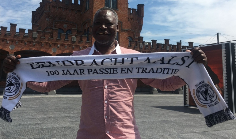 Moses Chunga arrives in Belgium ahead of former club centenary celebrations