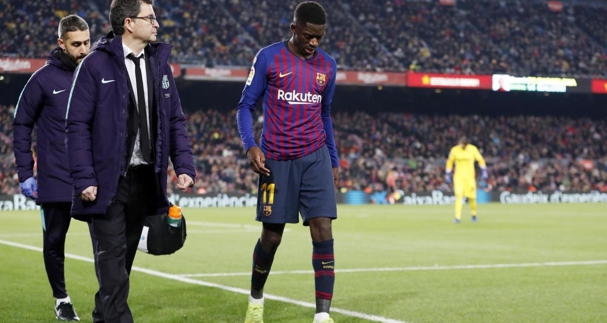 Dembele out for five weeks